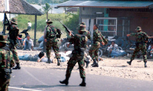 INDONESIAN SOLDIERS FIRE WARNING SHOTS DURING UNREST IN ACEH